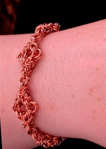Copper Twin Triagle Bracelet